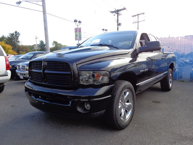 2003 DODGE RAM 1500 LARAMIE QUAD CAB 4X4 59L 8 CYL FUEL INJECTED AUTOMATIC 4WD BLACK CLEABLA
